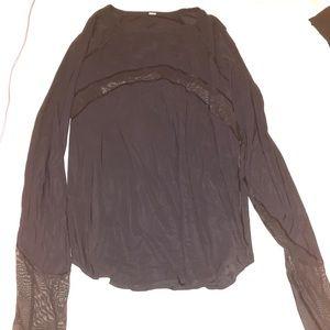 Lululemon Black Mesh Long Sleeve shirt